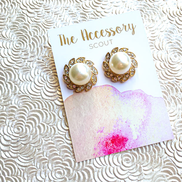 Vintage Pearly Studs