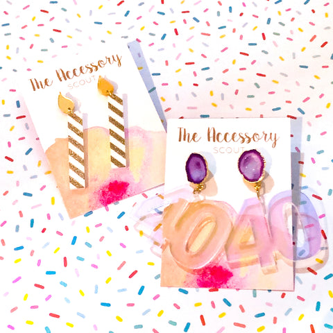 Scout Celebration Birthday Candle Earrings