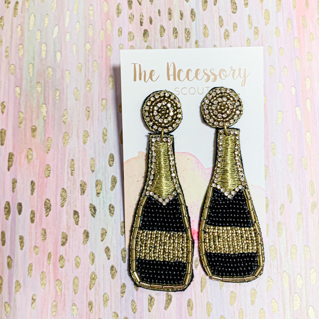 Champagne Bottle Earrings