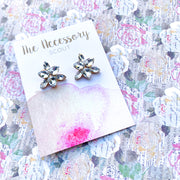 Clear Jewel Stud Earrings