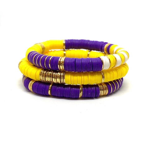 LSU Ibiza Bracelets Stacks