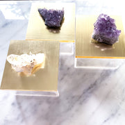 Quartz and Amethyst Acrylic Boxes