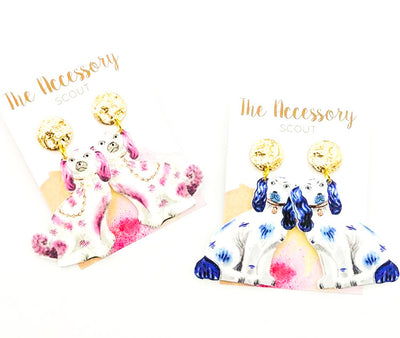 Scout Celebration Staffordshire Dog Earrings
