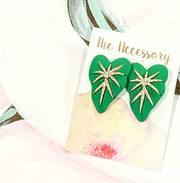 Bling Heart Stud Earrings