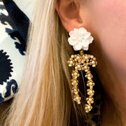 Natalie Bow Earrings - Gardenia Top