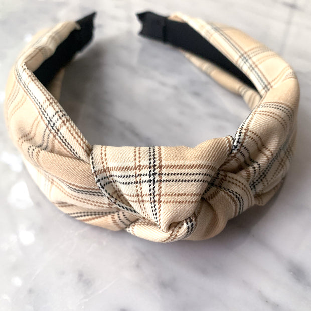 Kate Plaid Knotted Headband