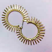Spikey Hoop Earrings