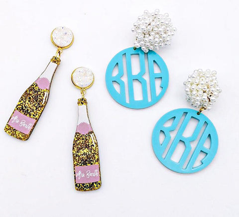 Scout Celebration Monogram Earrings