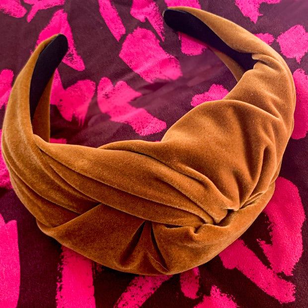 Chestnut Brown Velvet Headband
