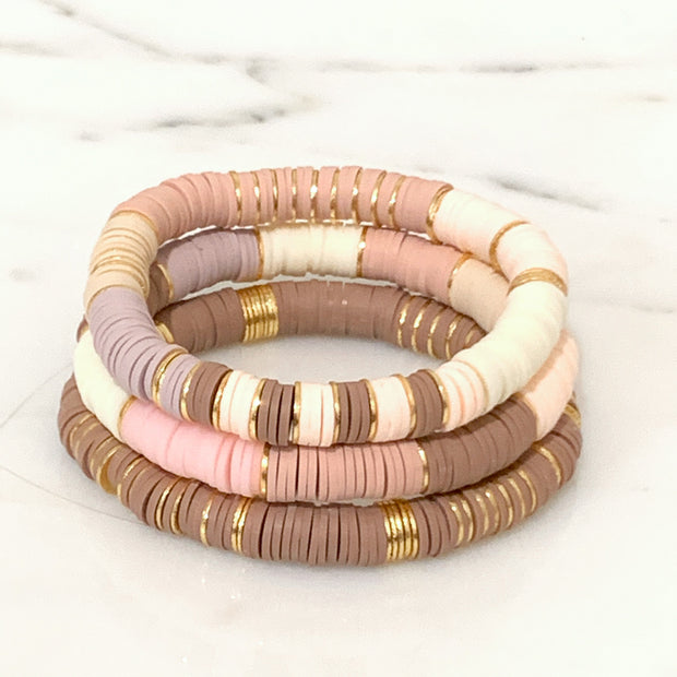 Neutral with a Pop of Blush Ibiza Stack