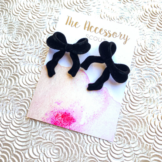 Velvet Bow Earrings