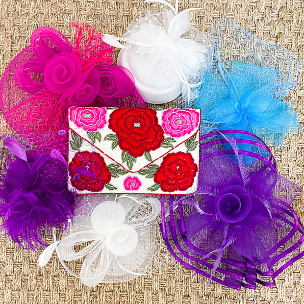 Run for the Roses Beaded Clutch