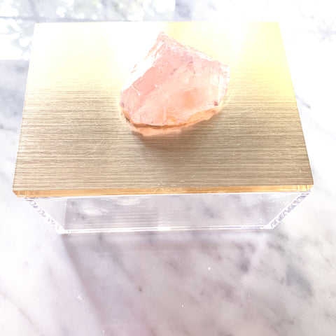 Medium Gold Topped Rock-Box