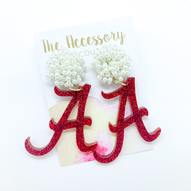 Scout Celebration Tailgate Alabama A Earrings