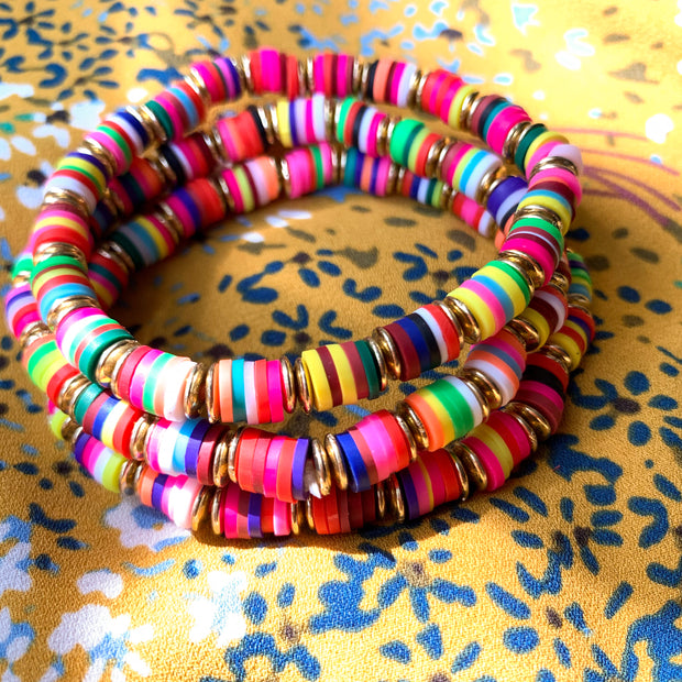 Bright Multicolor Bracelet Stacks