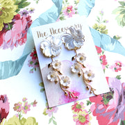 Harper Earrings - Mother of Pearl Flower Top