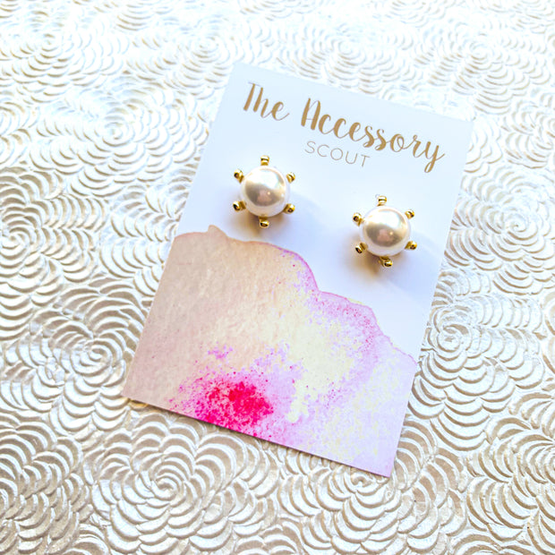 Plain Jane Pearl Studs