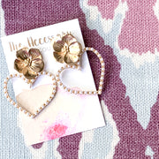 Belle Pearly Heart Earrings