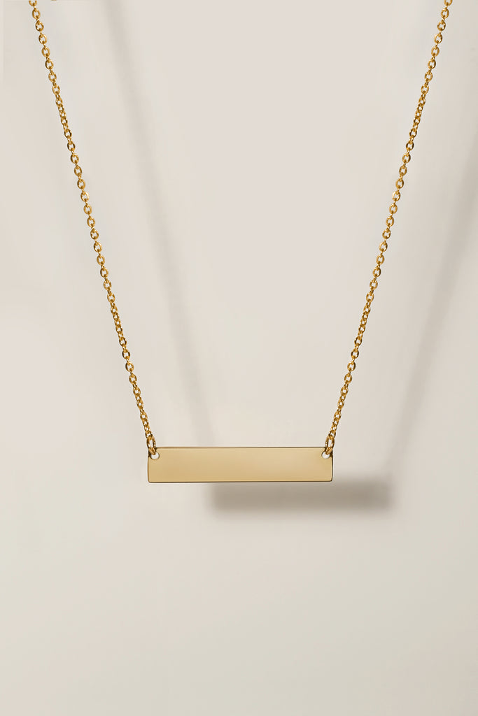 Engravable Bar Necklace Personalized Necklaces For Women Gifts For Her