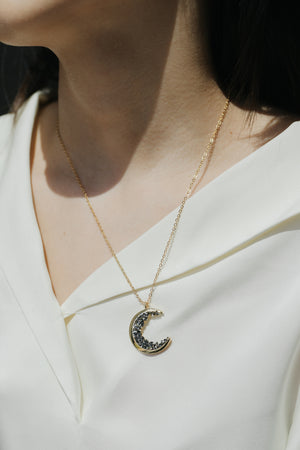 Noir Moon Necklace