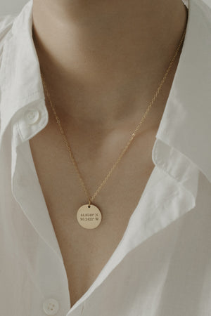 Epithet Disc Necklace 18mm [Personalize]