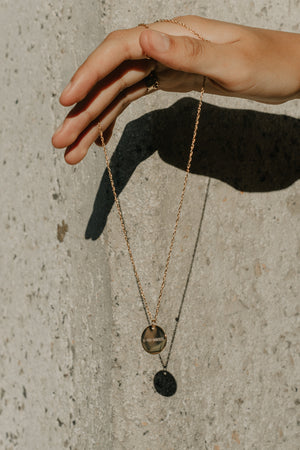 Epithet Disc Necklace 18mm [Message]