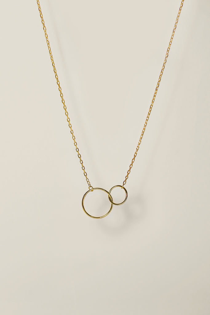 Interlocking Circles Necklace Linked Circles Best Friend Jewelry