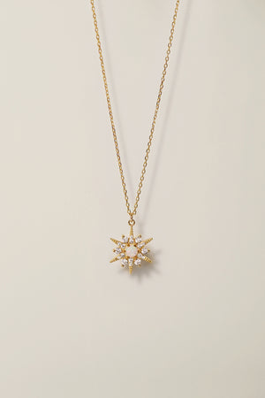 Opal Star Necklace Gold Celestial Jewelry Raw Stone Crystal For Women