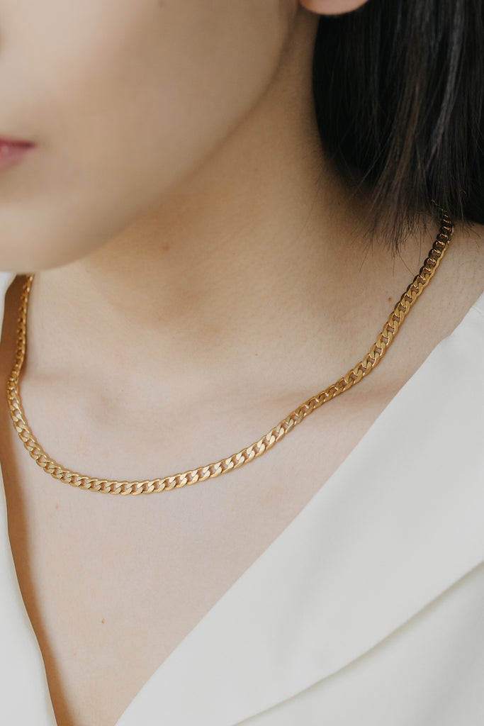 Essentials Curb Necklace 4mm