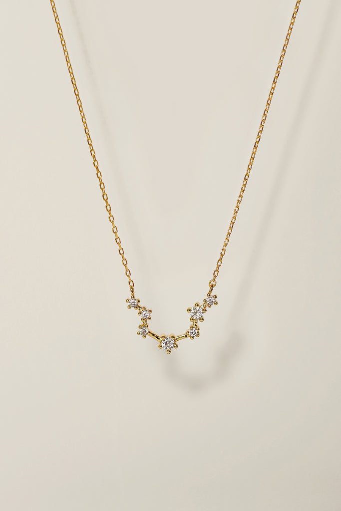 Crystal Zodiac Constellation Necklace Layering Necklace Birthday Gifts