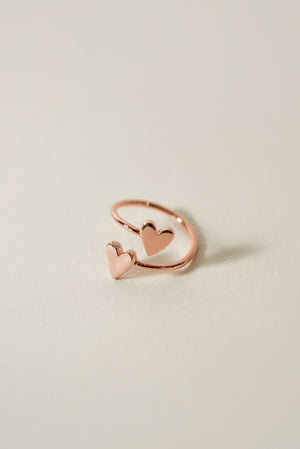 Bond Double Heart Ring [Personalize]