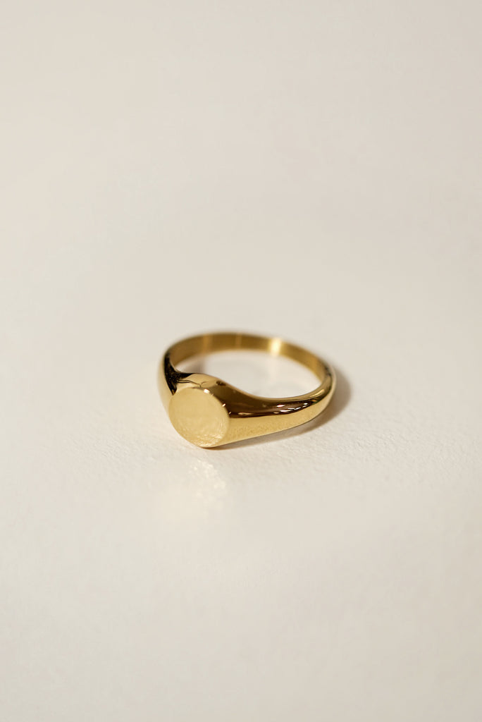 Signet Round Ring 8mm [Personalize]