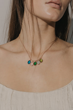 Origin Multi Stone Necklace [Personalize]