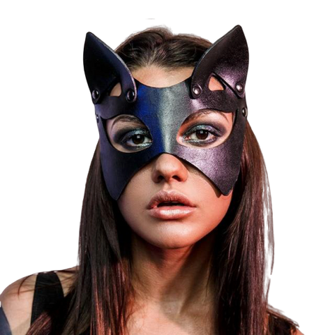 masque chat similicuir