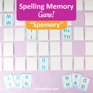 """Spemory""—the Spelling Memory Game for Word Nerds and At-Home Learning"