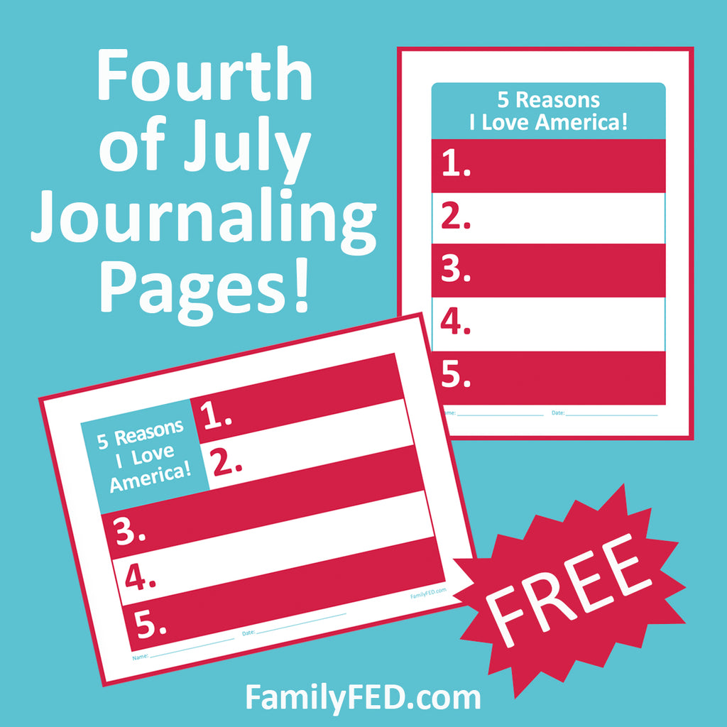 5 Reasons I Love America—Fourth of July Journaling Page Ideas