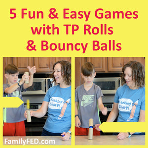 5 Easy Game Activities with Toilet Paper Rolls and Bouncy Balls (Two-Supply Games!)