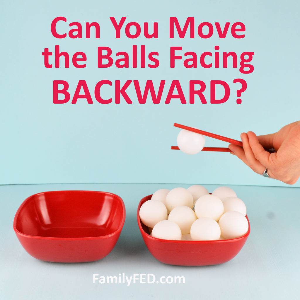 Backward Ball Drop—Fun Game for Talking about Teamwork