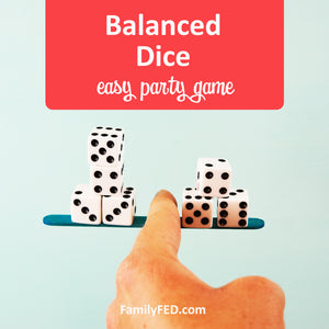 Balanced Dice Party Game with Dollar Tree Supplies or Chopsticks