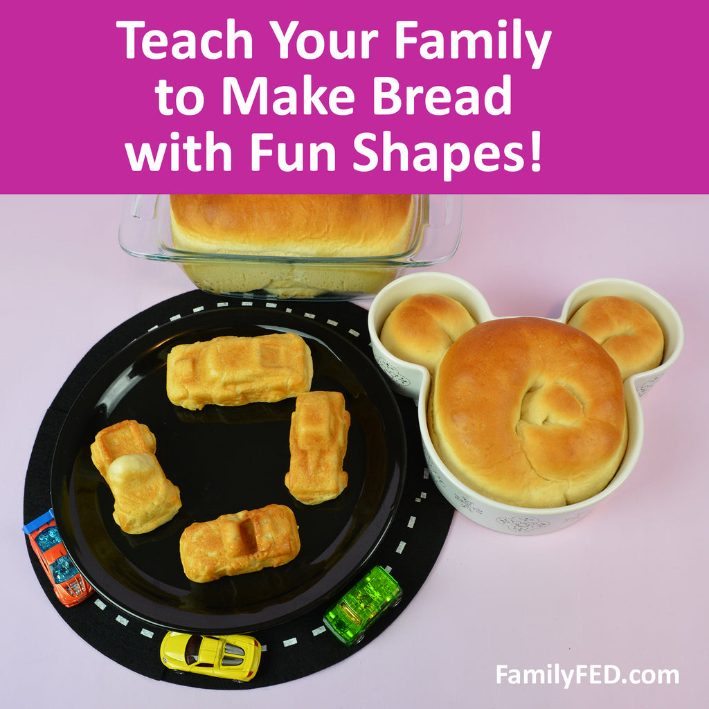 How to Make Bread Easy for Kids with a Fun Shaped-Bread Twist! (Physical Skill Idea)