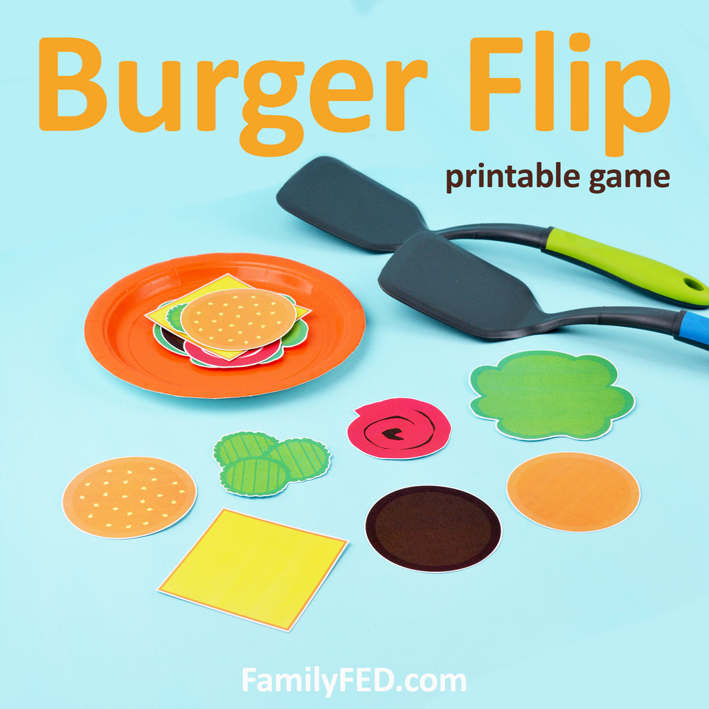 Burger Flip—Easy and Fun Party Game for Barbecues, Summer Parties, and Family Game Nights