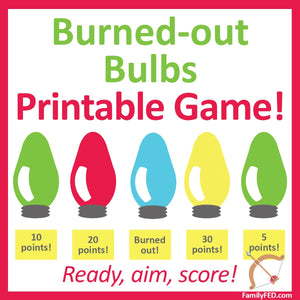 Burned-Out Bulbs Easy Christmas Party Game!