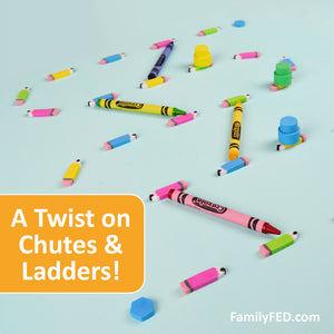 Create a DIY Chutes and Ladders Game with Eraser Pencils for Back-to-School Parties