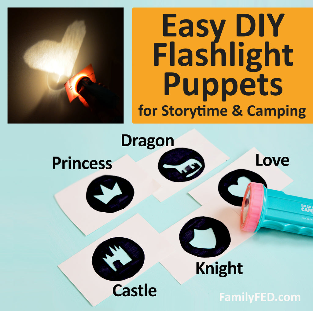How to Create DIY Flashlight Puppets and Shapes—Fun Idea for Camp or Bedtime Story Time