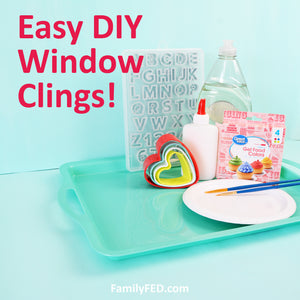 How to Make DIY Window Clings for Father's Day Decor or a Special Gift!