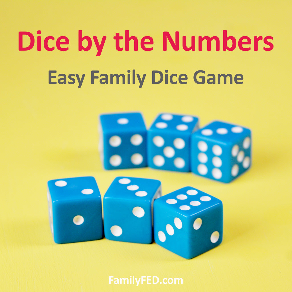 Dice by the Numbers: Easy Dice Game for Families