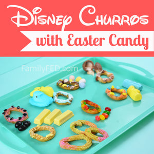 How to Make Disney Churros with an Easter Twist—Easter Candy Churros Challenge!