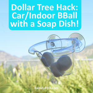 Safe and Cheap Car/Indoor Basketball Hoop for a Dollar Tree DIY Game