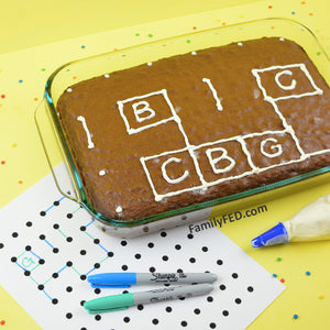 The Dot Game with CAKE—The Perfect Dessert for Family Game Night!