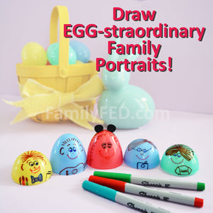 Draw an EGG-straordinary Family Portrait—Easy Easter Craft Idea!